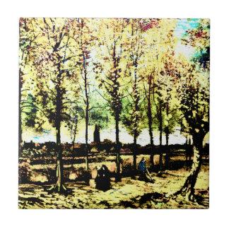 Vincent van Gogh - los álamos en Nuenen 3 Tejas Ceramicas