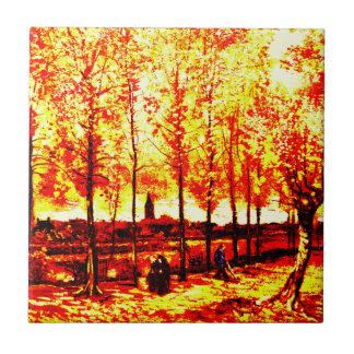 Vincent van Gogh - los álamos en Nuenen 3 Tejas Cerámicas