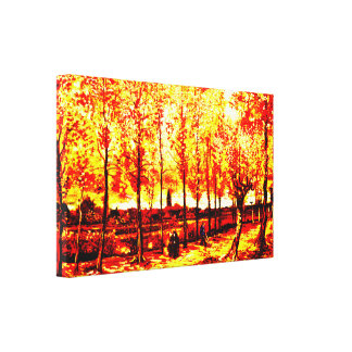 Vincent van Gogh - los álamos en Nuenen 3 Impresión En Lienzo Estirada