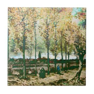 Vincent van Gogh - los álamos en Nuenen Azulejos Cerámicos