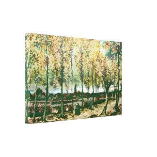 Vincent van Gogh - los álamos en Nuenen Lona Envuelta Para Galerías