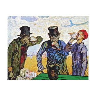 Vincent van Gogh - los bebedores - bella arte