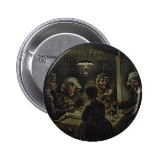 Vincent van Gogh - los comedores de la patata Pin Redondo De 2 Pulgadas