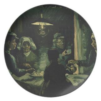 Vincent van Gogh - los comedores de la patata Platos Para Fiestas