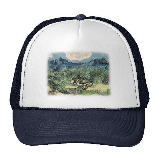 Vincent van Gogh, los olivos.  Arte famoso Gorros Bordados
