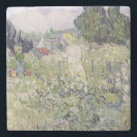 "Vincent van Gogh | Mademoiselle Gachet in garden Stone Coaster<br><div class=""desc"">Mademoiselle Gachet in her garden at Auvers-sur-Oise,  1890 | by Vincent van Gogh | Art Location: Musee d&#39;Orsay,  Paris,  France | Dutch Artist | Image Collection Number: XIR33822</div>"