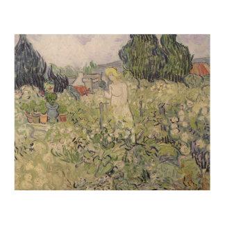 Vincent van Gogh | Mademoiselle Gachet in garden Wood Wall Art