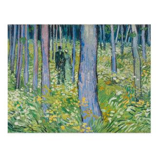 Vincent van Gogh - maleza con dos figuras Tarjetas Postales