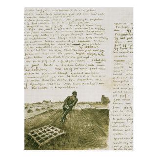 Vincent van Gogh | Man pulling a harrow Postcard