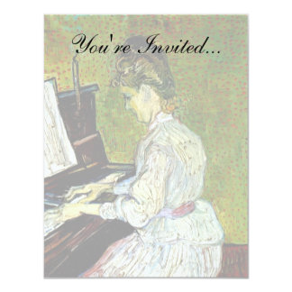 Vincent Van Gogh - Marguerite Gachet At The Piano Card
