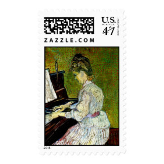 Vincent Van Gogh - Marguerite Gachet At The Piano Postage Stamp