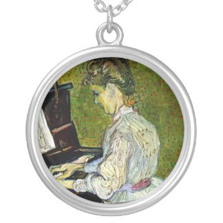 Vincent Van Gogh - Marguerite Gachet At The Piano Silver Plated Necklace