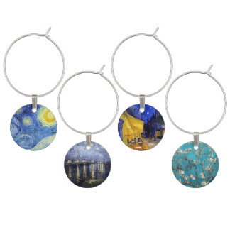 Vincent van Gogh Masterpiece Paintings Wine Glass Charm
