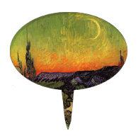Vincent Van Gogh Moonlit Landscape Cake Picks