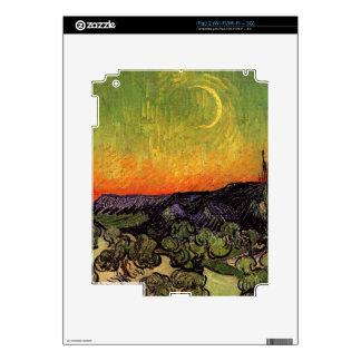 Vincent Van Gogh Moonlit Landscape Decal For iPad 2