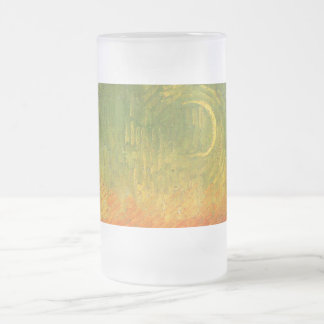 Vincent Van Gogh Moonlit Landscape Frosted Glass Beer Mug