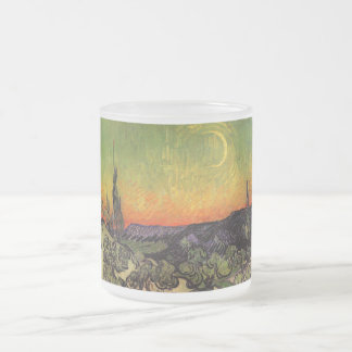 Vincent Van Gogh Moonlit Landscape Frosted Glass Coffee Mug