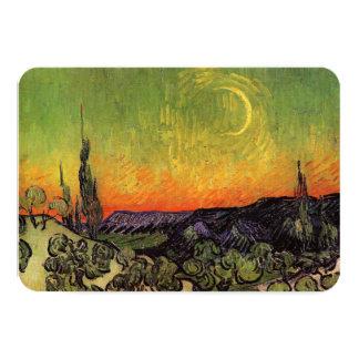 Vincent Van Gogh Moonlit Landscape Custom Announcements