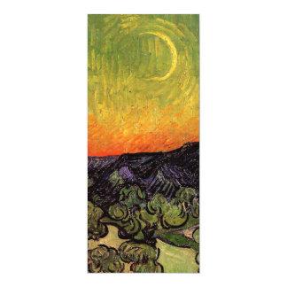 Vincent Van Gogh Moonlit Landscape 4x9.25 Paper Invitation Card
