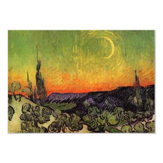 Vincent Van Gogh Moonlit Landscape Custom Invites