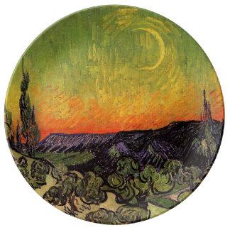 Vincent Van Gogh Moonlit Landscape Porcelain Plates