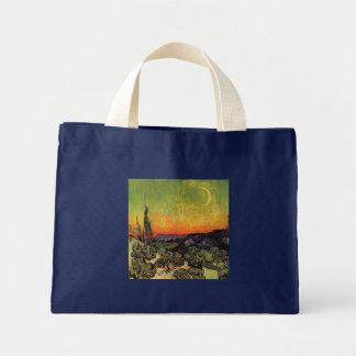 Vincent Van Gogh Moonlit Landscape Mini Tote Bag