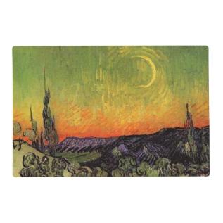 Vincent Van Gogh Moonlit Landscape Placemat at Zazzle