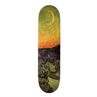 Vincent Van Gogh Moonlit Landscape Skateboard Deck