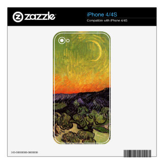 Vincent Van Gogh Moonlit Landscape Skin For The iPhone 4S