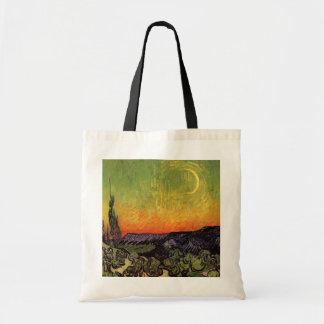 Vincent Van Gogh Moonlit Landscape Tote Bag