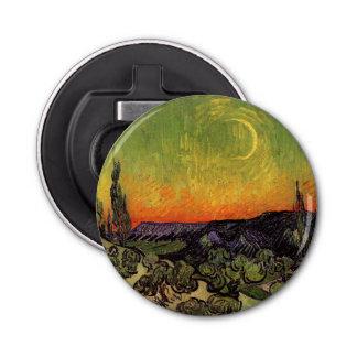 Vincent Van Gogh Moonlit Landscape Button Bottle Opener