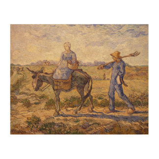 Vincent van Gogh | Morning, going out to work Wood Print