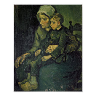 Vincent van Gogh   Mother and Child, 1885 Poster
