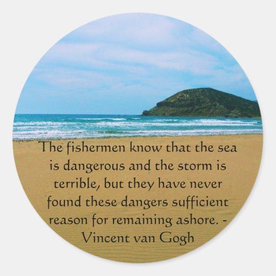 Vincent van Gogh motivational quote Classic Round Sticker