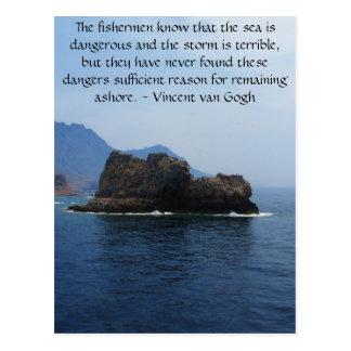 Vincent van Gogh motivational quote Postcard