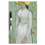 Vincent van Gogh - mujer en campo Tableros Blancos
