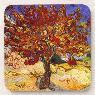 Vincent Van Gogh Mulberry Tree Fine Art Painting Drink Coasters