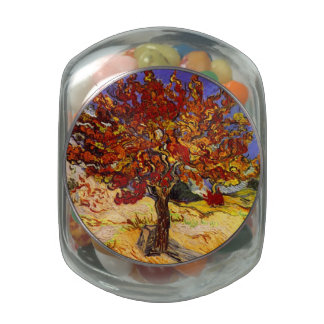 Vincent Van Gogh Mulberry Tree Fine Art Painting Glass Candy Jar