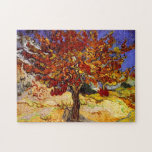 """Vincent Van Gogh Mulberry Tree Fine Art Painting Jigsaw Puzzle<br><div class=""""desc"""">Vincent Van Gogh The Mulberry Tree Fine Art Painting Vincent Willem van Gogh was a Dutch Post-Impressionist painter whose work, notable for its rough beauty, emotional honesty and bold color, had a far-reaching influence on 20th-century art. His output includes portraits, self portraits, landscapes and still lifes of cypresses, trees in...</div>"""