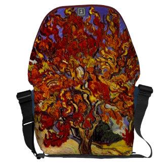 Vincent Van Gogh Mulberry Tree Fine Art Painting Messenger Bags
