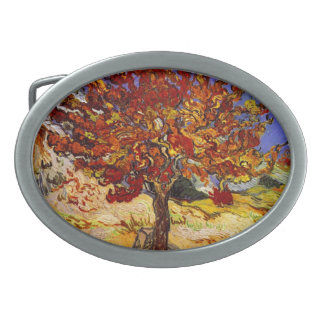Vincent Van Gogh Mulberry Tree Fine Art Painting Oval Belt Buckle