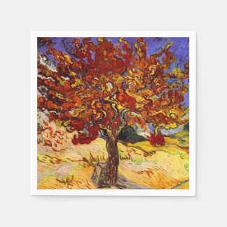 Vincent Van Gogh Mulberry Tree Fine Art Painting Paper Napkin