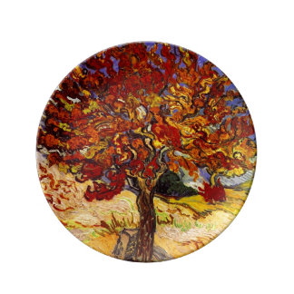 Vincent Van Gogh Mulberry Tree Fine Art Painting Porcelain Plate