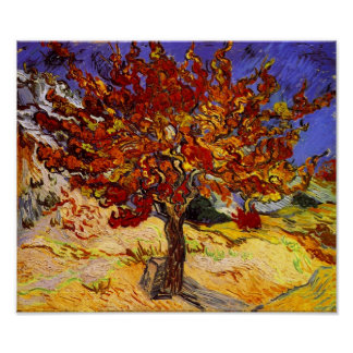 Vincent Van Gogh Mulberry Tree Fine Art Painting Poster