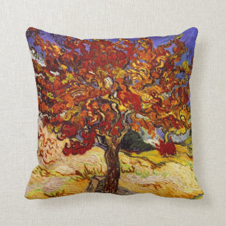Vincent Van Gogh Mulberry Tree Fine Art Painting Throw Pillow