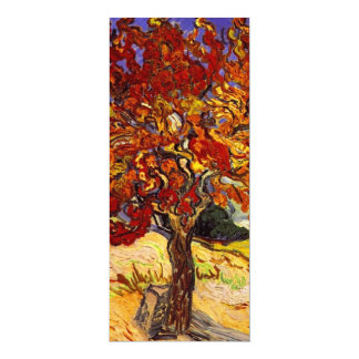 "Vincent Van Gogh Mulberry Tree 4"" X 9.25"" Invitation Card"