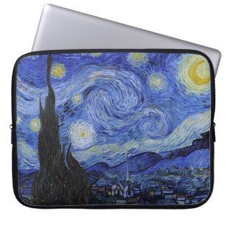 """Vincent van Gogh """"noche estrellada"""" 15"""" manga del  Fundas Computadoras"""