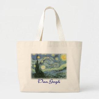 Vincent van Gogh - noche estrellada Bolsas De Mano
