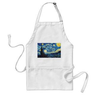 Vincent van Gogh - noche estrellada Delantales