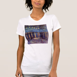 Vincent van Gogh - noche estrellada en Rhone Camiseta